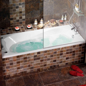 Mampara VIVA de bañera cromo transparente 100x150 cm