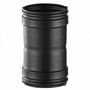 Manguito Bofill negro mate h-h diámetro 150 mm