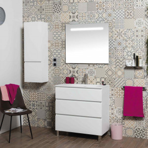 Mueble MANNING a suelo blanco mate 80 cm