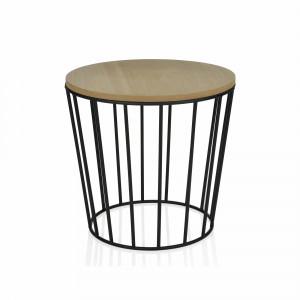 Pz. Andrea House mu64083 mesa redonda madera/metal diam.45x43.5 cm