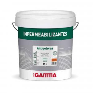 Bote Gamma pintura impermeab. antigoteras blanco 4l