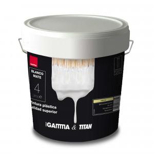 Bote pintura plastica blanco Gamma-titan interior 4 litros
