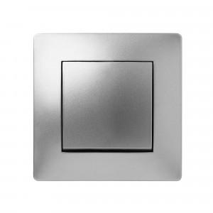 Pz.pulsador Famatel 9210 empotr. 10a-250v aluminio
