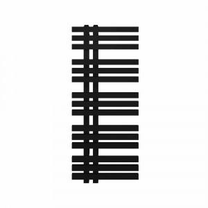 Radiador toallero eléctrico Baho MISTRAL de diseño negro 120x50 cm