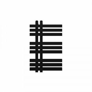 Radiador toallero eléctrico Baho MISTRAL de diseño negro 80x50 cm