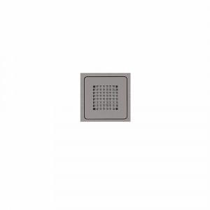 Rejilla cuadrada gris plata HIDRA II