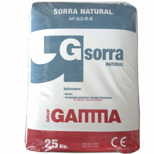 Saco Gamma sorra natural 0/2 (25kg)