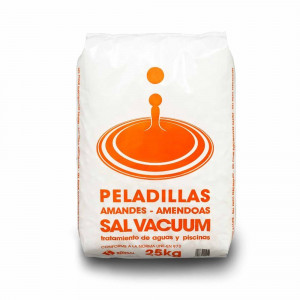 Saco 25kg. sal vacuum peladillas
