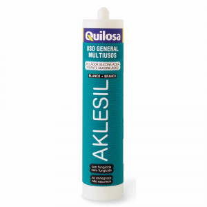 Cart.Quilosa silicona 280ml acida aklesil blanca