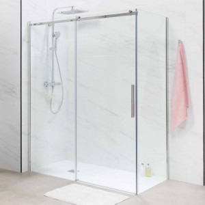 Mampara STEEL de ducha transparente lateral 80 cm