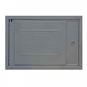 Tapa registro pared aluminio 30x45 aguas potables