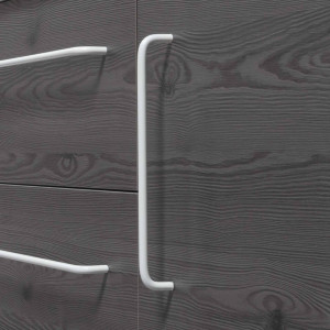 Tirador LUCID de mueble blanco mate 22,4 cm