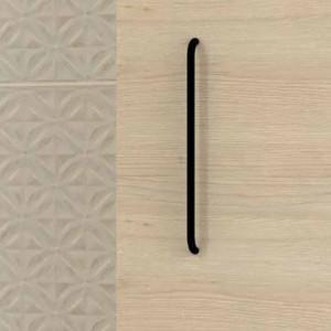 Tirador LUCID de mueble negro mate 22,4 cm