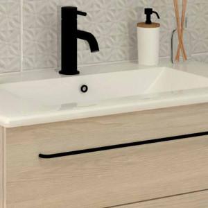 Tirador LUCID de mueble negro mate 44 cm