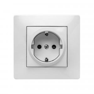 Pz.toma de corriente Famatel 9123 empotr. 16a-250v blanco