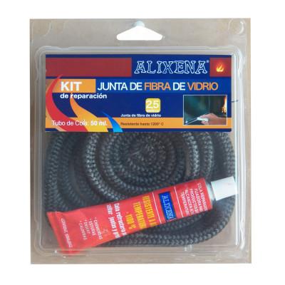 Junta de fibra de vidrio redonda trenzada de Alixena 8 mm