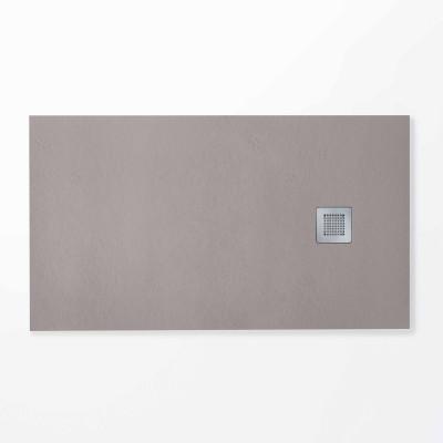 Plato de ducha rectangular HIDRA II 70 x 150 cm gris plata