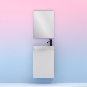 Conjunto Amizuva MIKA con espejo blanco 45 cm