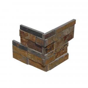 Juego 2 piezas piedra nat.india -z- 18x35 corner multicolor (18 ud/caja)