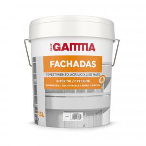 Bote Gamma pintura acrilicos blanco fachadas liso 15l.