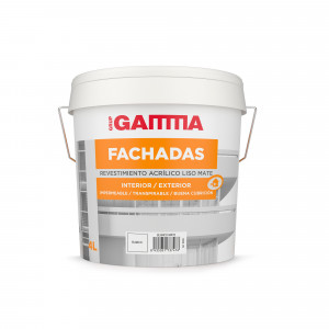 Bote Gamma pintura acrilicos blanco fachadas liso 4l.