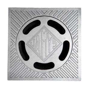 Sumidero sifonico 40x40 diam.110 aluminio