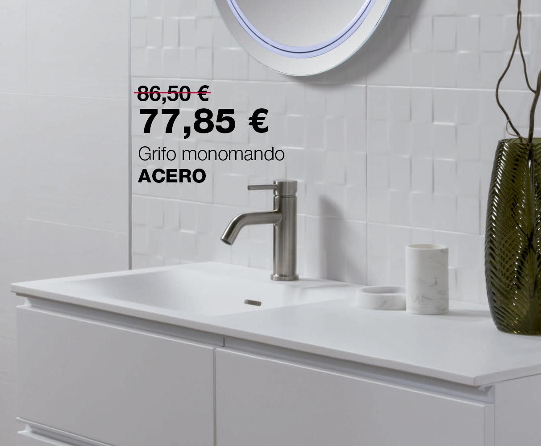 Grifo lavabo Acero, ahora por 77,85€