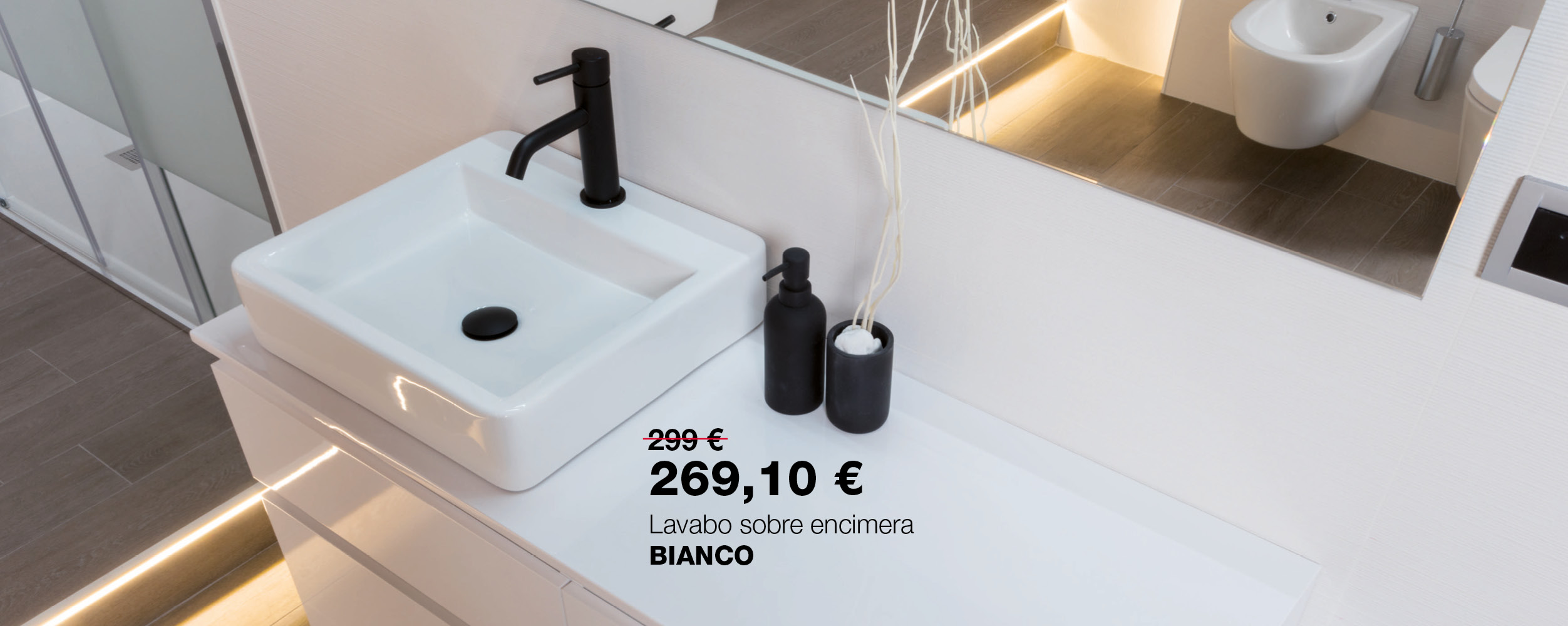 Lavabo sobre encimera BIANCO
