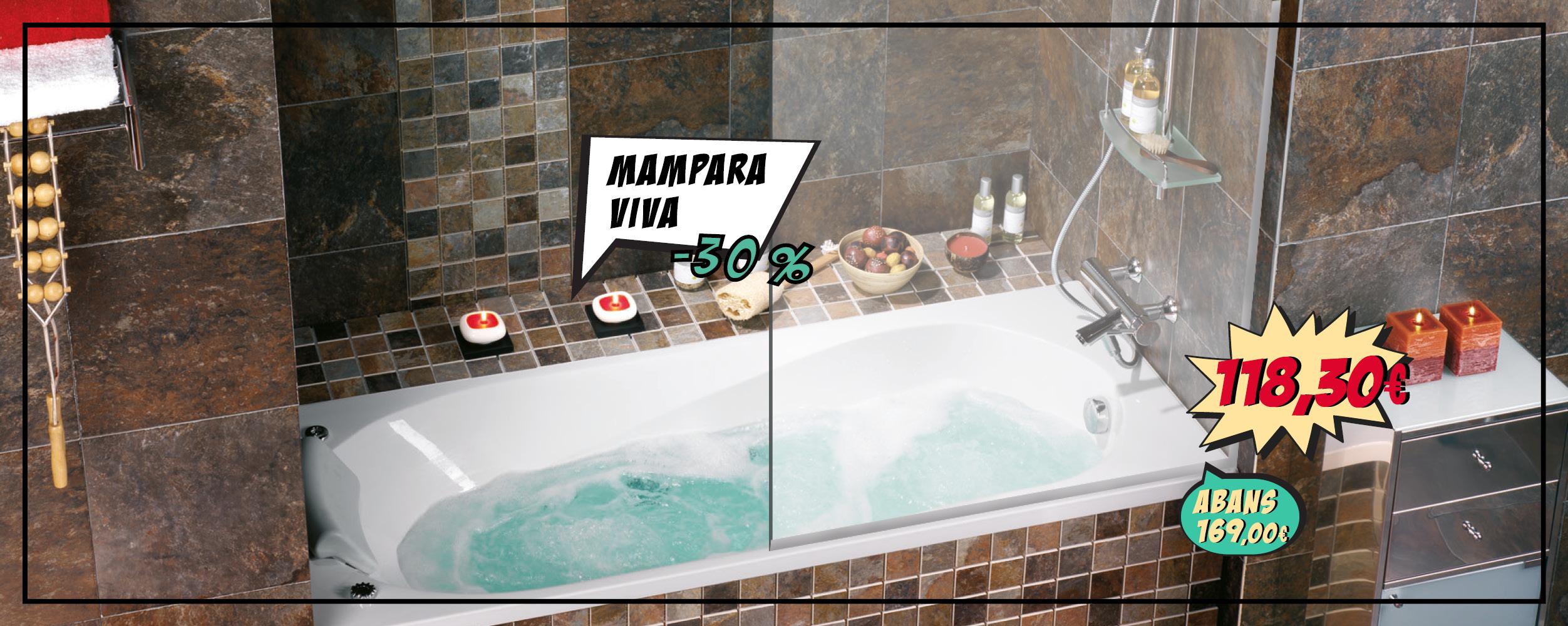 Mampara per banyera VIVA, pero només 118,30€