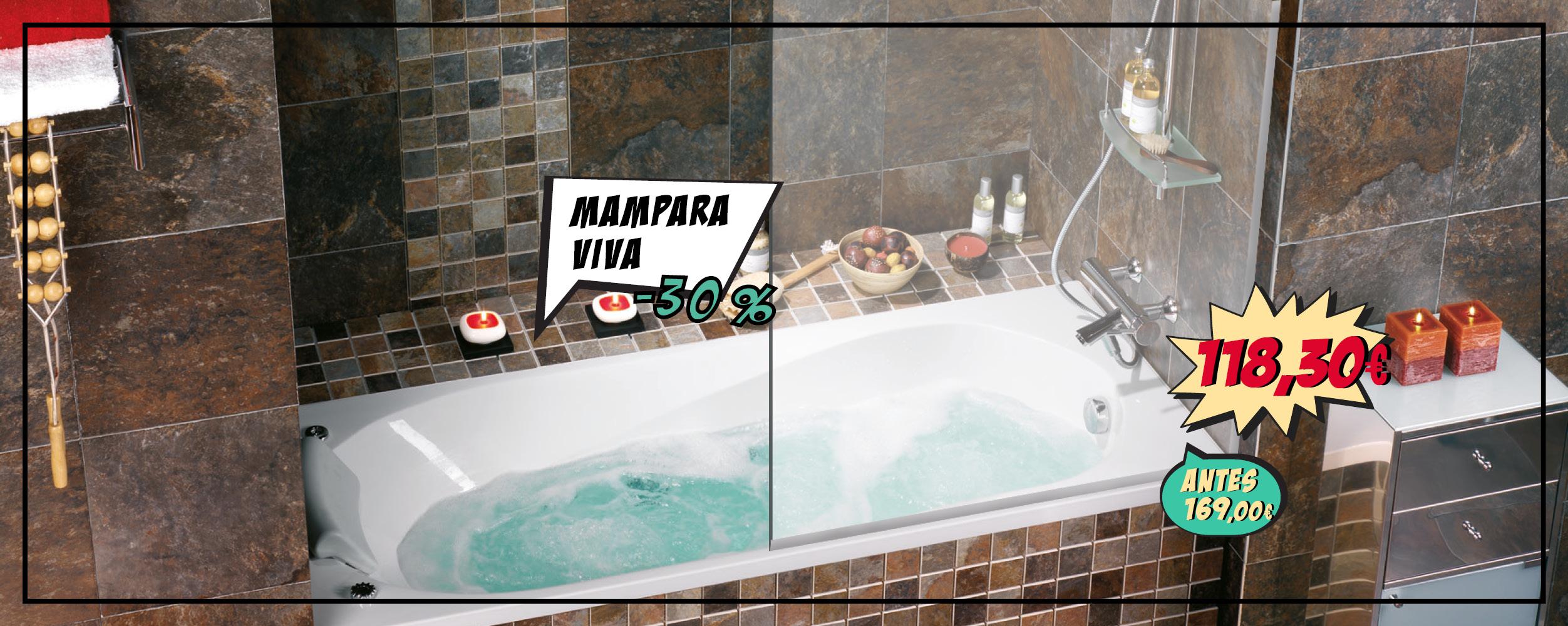 Mampara para bañera VIVA, ahora por 118,30€