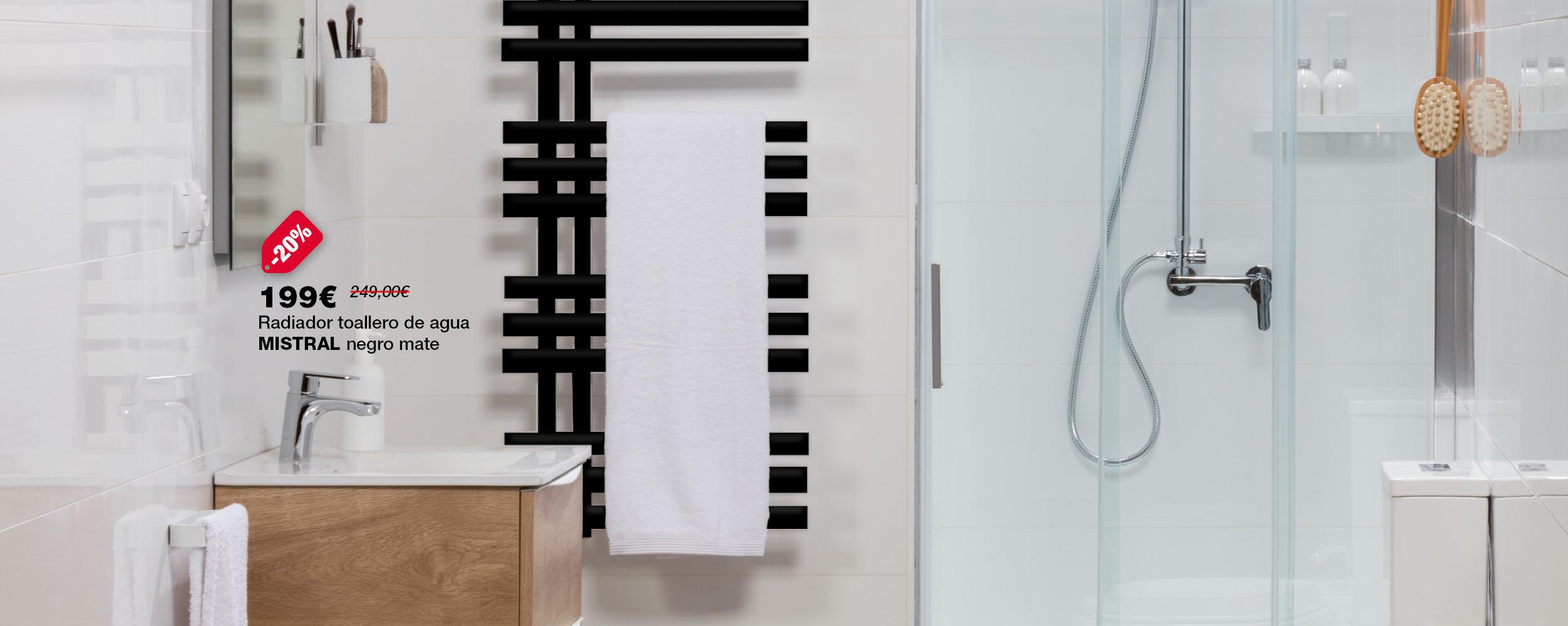Radiador toallero MISTRAL, ahora por 199€