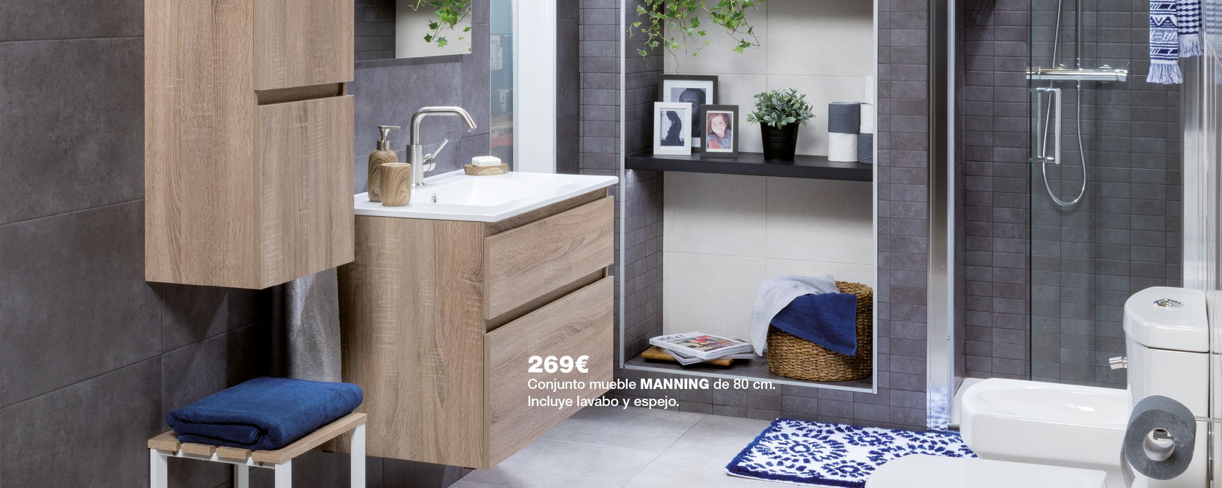 Conjunto mueble MANNING de 80 cm por 269€