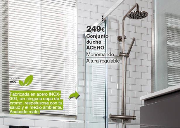Conjunto de ducha ACERO