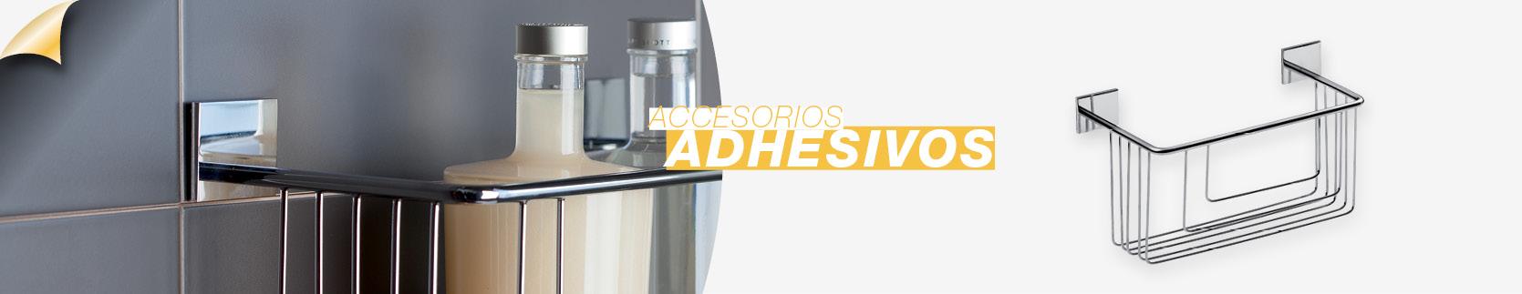 Accesorios adhesivos para el cuarto de baño