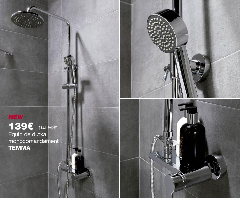 Equip de dutxa TEMMA per 139€