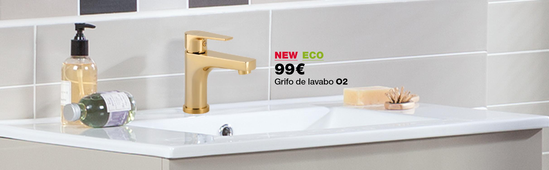 Grifo para lavabo O2 acabado oro