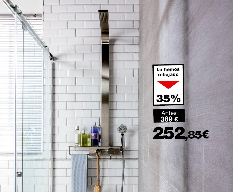 Cabina de hidromasaje brico depot perfect set de ducha for Plato ducha bricodepot