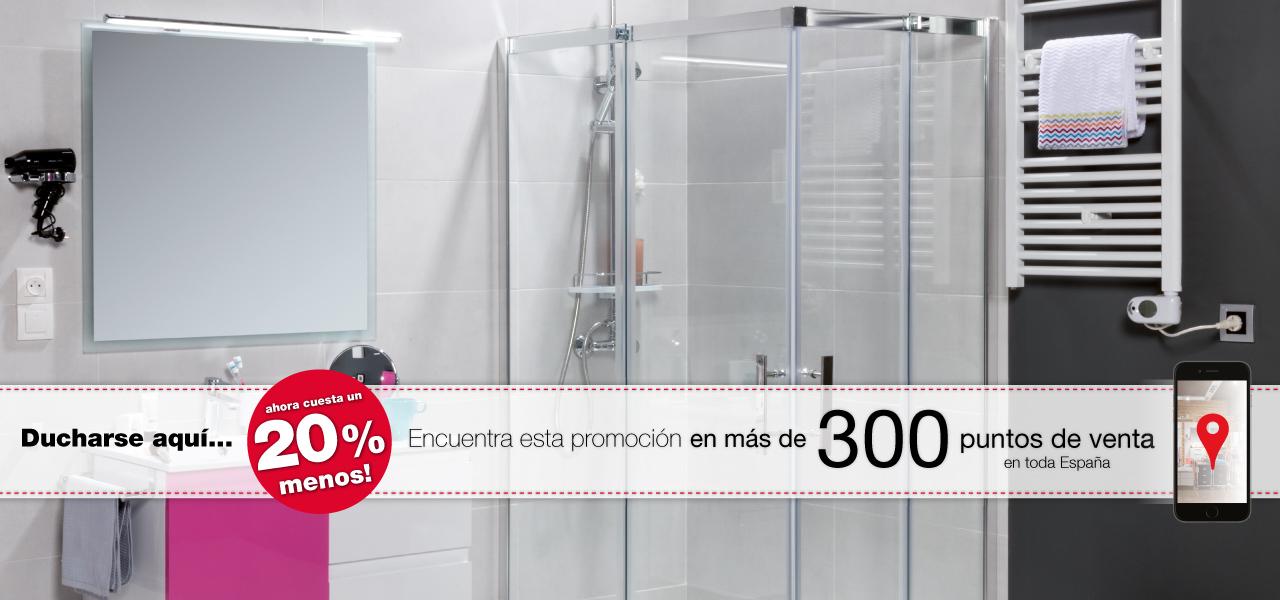 20% de descuento en todos los modelos de mamparas de baño de la serie PASO