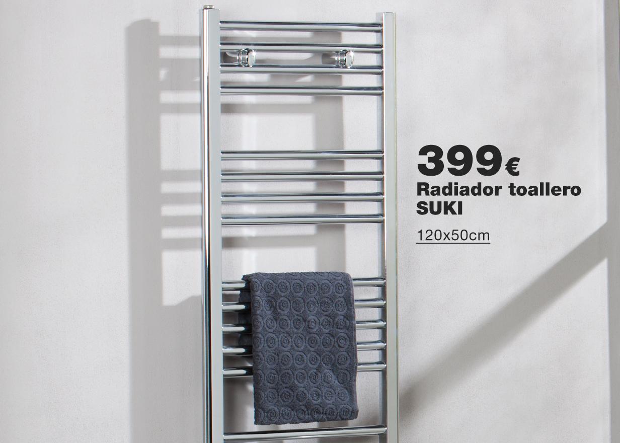 Radiador toallero eléctrico SUKI